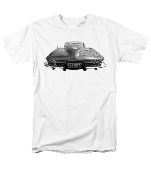 Men's T-Shirt  (Regular Fit) featuring the photograph 66 Corvette Rear Black And White by Gill Billington