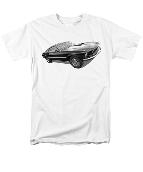 69 Mach1 In Black And White Men's T-Shirt  (Regular Fit) by Gill Billington