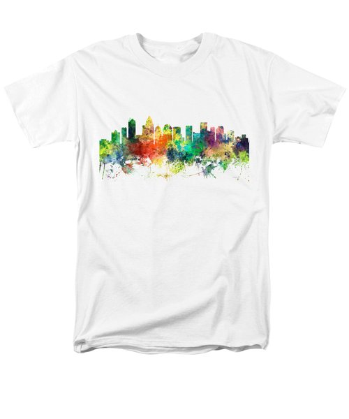 Charlotte Nc Skyline Men's T-Shirt  (Regular Fit) by Marlene Watson