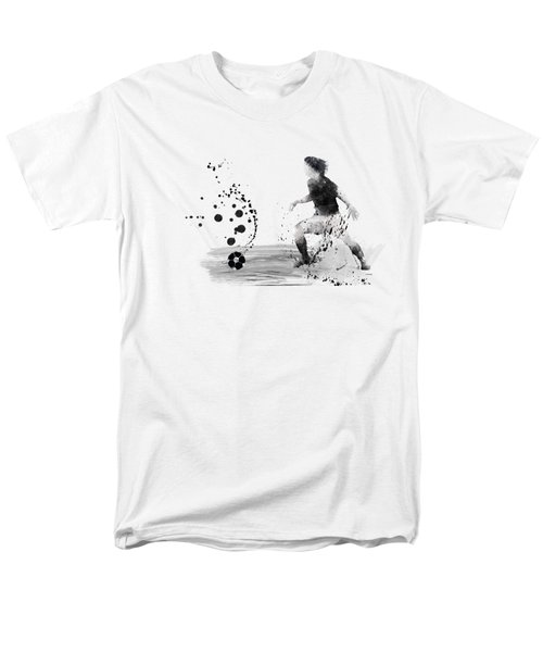 Football Player Men's T-Shirt  (Regular Fit) by Marlene Watson