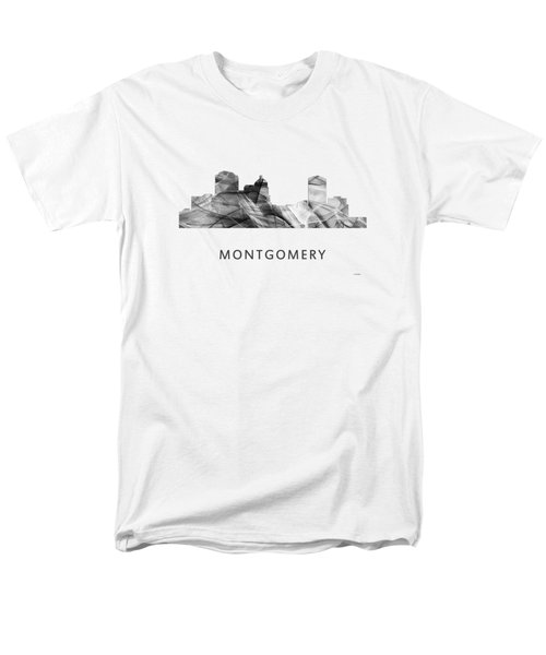 Montgomery Alabama Skyline Men's T-Shirt  (Regular Fit) by Marlene Watson