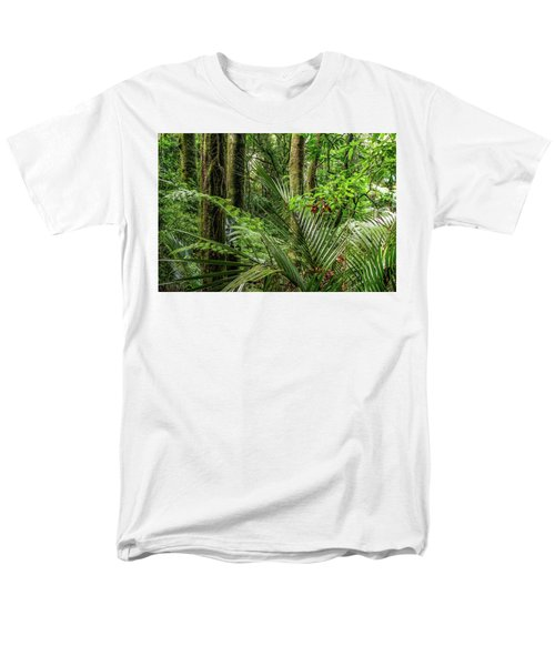 Men's T-Shirt  (Regular Fit) featuring the photograph Tropical Jungle by Les Cunliffe