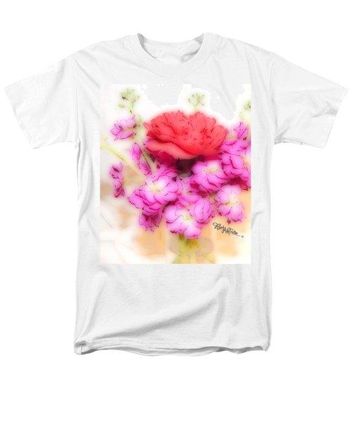 #8742 Soft Flowers Men's T-Shirt  (Regular Fit) by Barbara Tristan