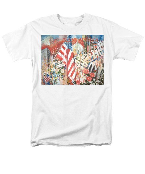 9-11 Attack Men's T-Shirt  (Regular Fit) by Alexandra Maria Ethlyn Cheshire