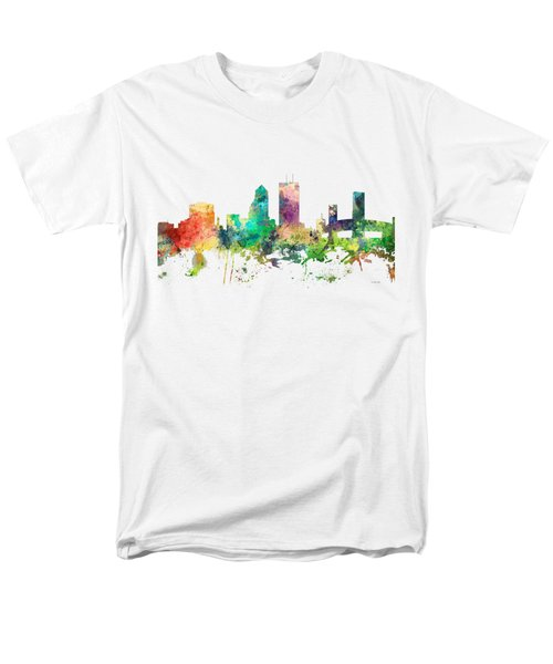 Jacksonville Florida Skyline Men's T-Shirt  (Regular Fit) by Marlene Watson