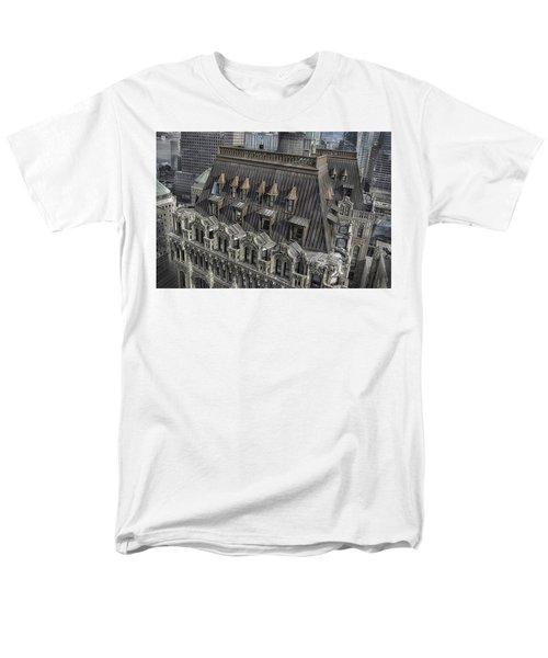 90 West - West Street Building Men's T-Shirt  (Regular Fit) by Dyle Warren