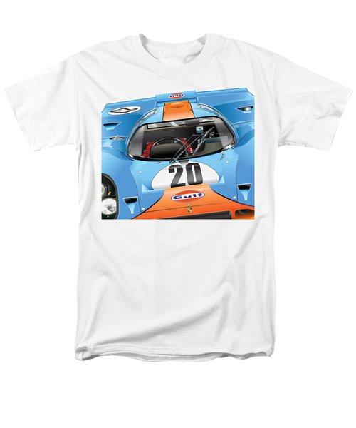 Porsche 917 Illustration Men's T-Shirt  (Regular Fit) by Alain Jamar
