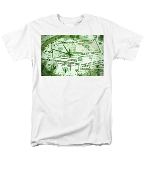 Men's T-Shirt  (Regular Fit) featuring the photograph Time Is Money  by Les Cunliffe