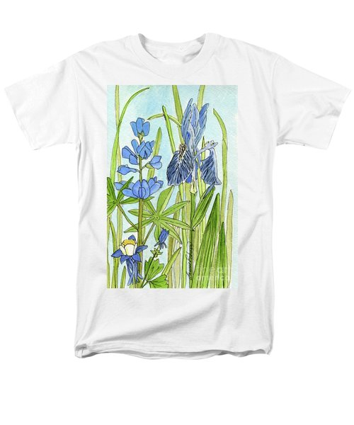 A Blue Garden Men's T-Shirt  (Regular Fit) by Laurie Rohner