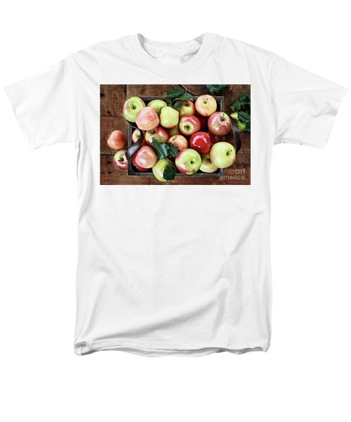 Men's T-Shirt  (Regular Fit) featuring the photograph A Bushel Of Apples  by Stephanie Frey