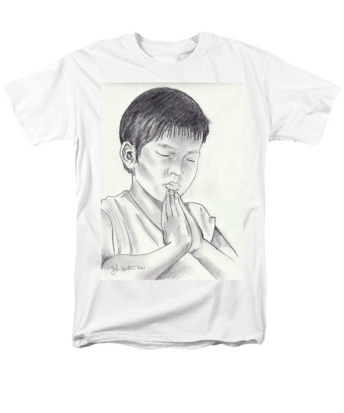 A Child's Prayer Men's T-Shirt  (Regular Fit) by John Keaton