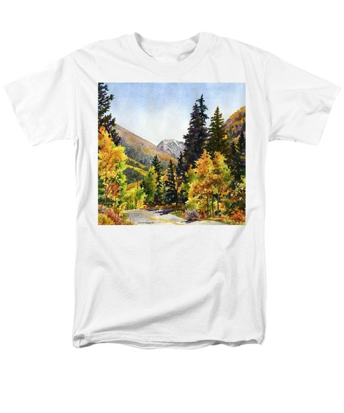 Men's T-Shirt  (Regular Fit) featuring the painting A Drive In The Mountains by Anne Gifford