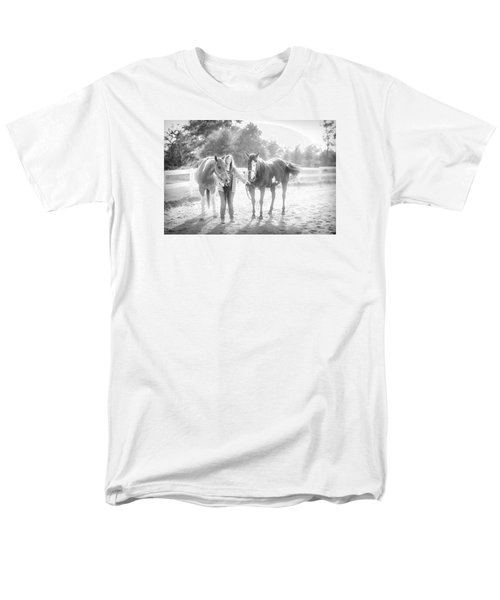 Men's T-Shirt  (Regular Fit) featuring the photograph A Girl With Horses by Kelly Hazel
