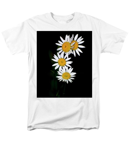 Men's T-Shirt  (Regular Fit) featuring the digital art A Group Of Wild Daisies by Chris Flees