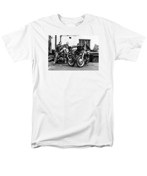 Men's T-Shirt  (Regular Fit) featuring the photograph A Group Of Women Associated With The Hells Angels, 1973. by Lawrence Christopher