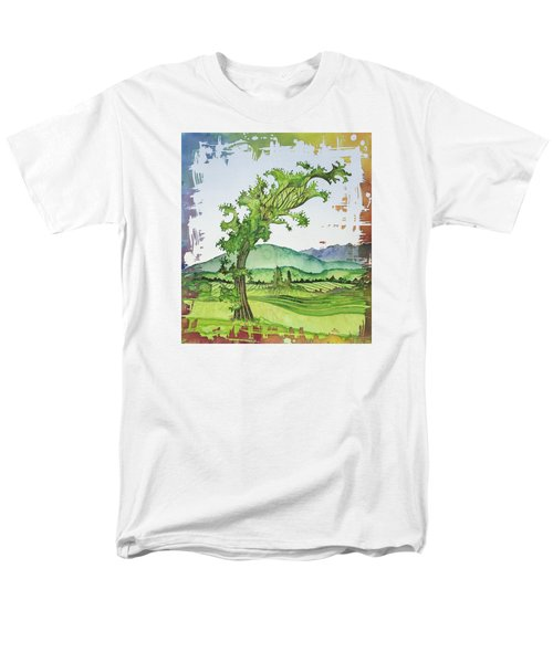 A Kale Leaf Visits The Country Men's T-Shirt  (Regular Fit) by Carolyn Doe