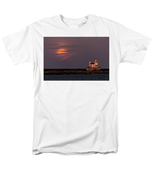 Men's T-Shirt  (Regular Fit) featuring the photograph A Moonsetting Sunrise by Everet Regal