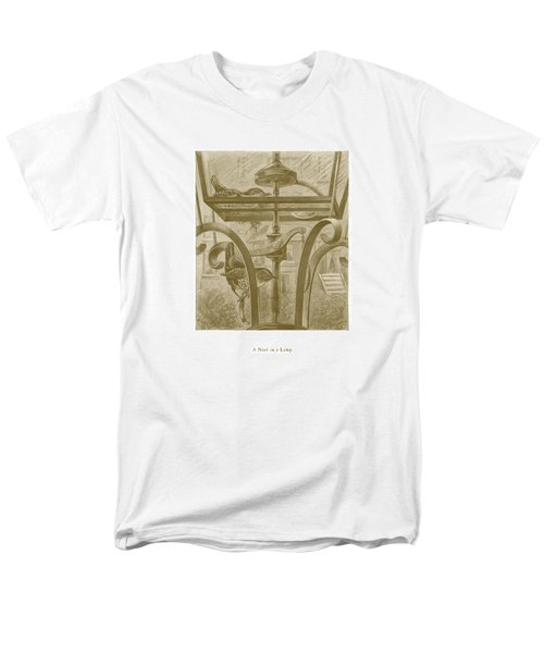 Men's T-Shirt  (Regular Fit) featuring the drawing A Nest In A Lamp by David Davies