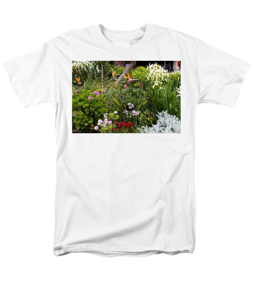 Men's T-Shirt  (Regular Fit) featuring the photograph A Riot Of Flowers by Lorraine Devon Wilke
