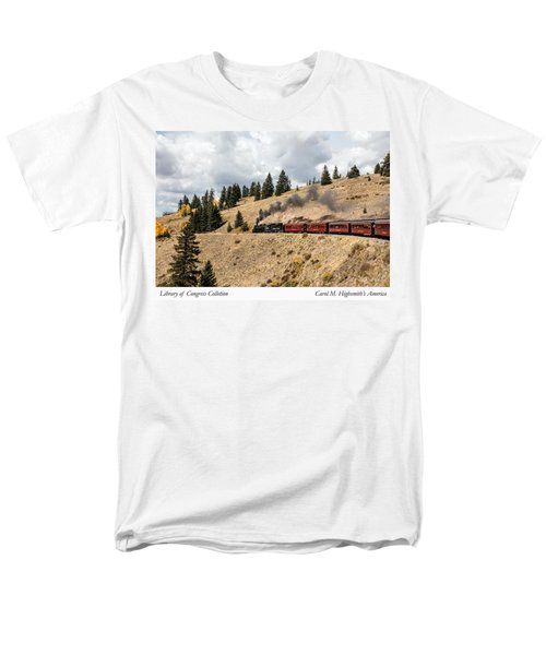 A Scenic Railroad Steam Train, Near Antonito In Conejos County In Colorado Men's T-Shirt  (Regular Fit) by Carol M Highsmith