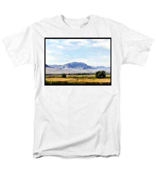 Men's T-Shirt  (Regular Fit) featuring the painting A Sleeping Giant by Susan Kinney