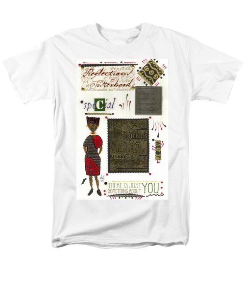 Men's T-Shirt  (Regular Fit) featuring the mixed media A Special Friend by Angela L Walker