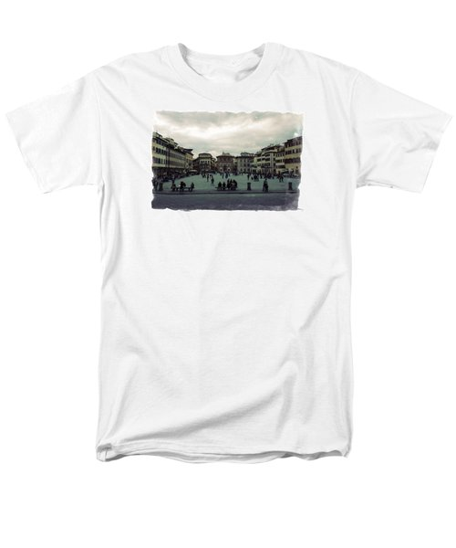 Men's T-Shirt  (Regular Fit) featuring the photograph A Square In Florence Italy by Wade Brooks