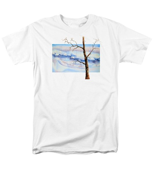 A Tree In Another Dimension Men's T-Shirt  (Regular Fit) by Debbie Lewis