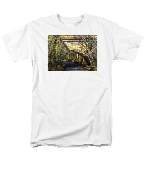 Men's T-Shirt  (Regular Fit) featuring the photograph A Tunnel By The River by Melissa Messick