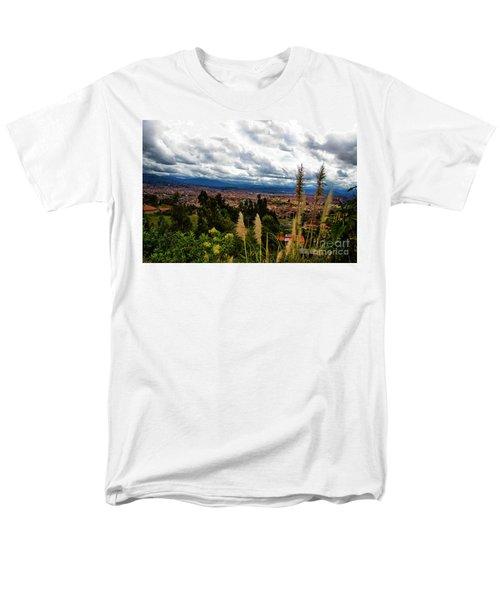 A Vista Of Cuenca From The Autopista Men's T-Shirt  (Regular Fit) by Al Bourassa