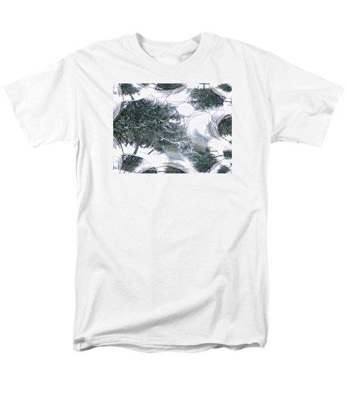 Men's T-Shirt  (Regular Fit) featuring the photograph A Winter Fractal Land by Skyler Tipton