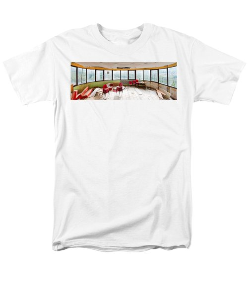 Abandoned Tower Restaurant - Urban Panorama Men's T-Shirt  (Regular Fit) by Dirk Ercken