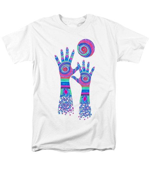 Aboriginal Hands Pastel Transparent Background Men's T-Shirt  (Regular Fit) by Barbara St Jean