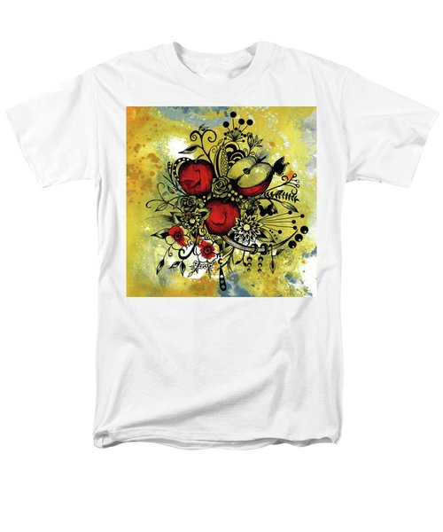 Abstract Acrylic Painting Apples II Men's T-Shirt  (Regular Fit) by Saribelle Rodriguez