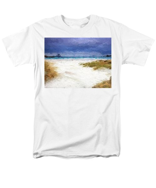 Abstract Beach Horizon Men's T-Shirt  (Regular Fit) by Anthony Fishburne