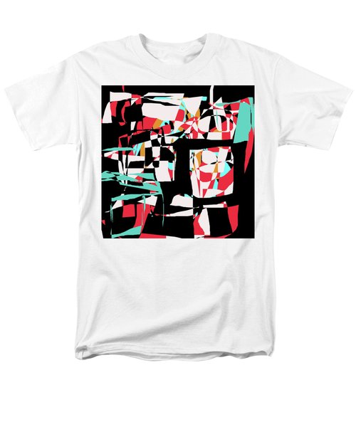 Men's T-Shirt  (Regular Fit) featuring the digital art Abstract Boxes by Jessica Wright
