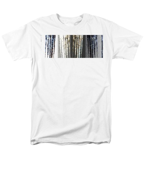 Men's T-Shirt  (Regular Fit) featuring the digital art Abstract Icicles by Will Borden