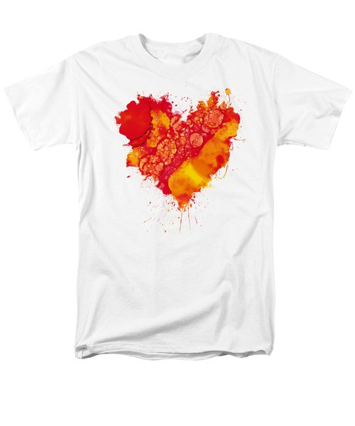 Men's T-Shirt  (Regular Fit) featuring the painting Abstract Intensity by Nikki Marie Smith