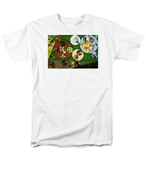 Men's T-Shirt  (Regular Fit) featuring the digital art Abstract Painting - Black Forest by Vitaliy Gladkiy