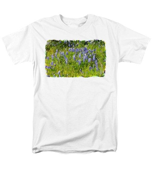 Men's T-Shirt  (Regular Fit) featuring the photograph Abundance Of Blue Bonnets by Linda Phelps