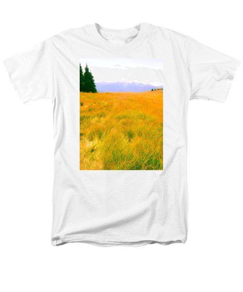 Men's T-Shirt  (Regular Fit) featuring the photograph Across The Summer Meadow by Ronda Broatch