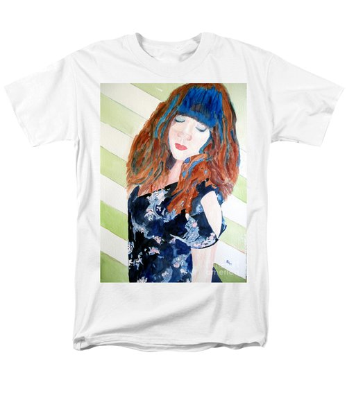 Men's T-Shirt  (Regular Fit) featuring the painting Adelina by Sandy McIntire