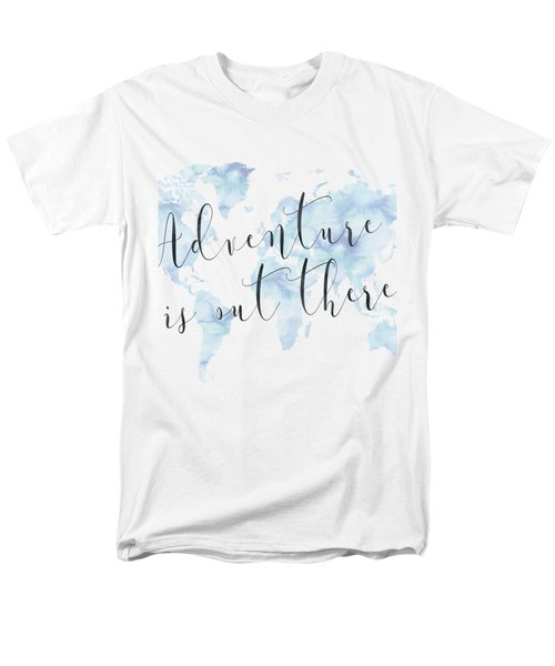 Adventure Is Out There, Blue Men's T-Shirt  (Regular Fit) by Donna Gilbert