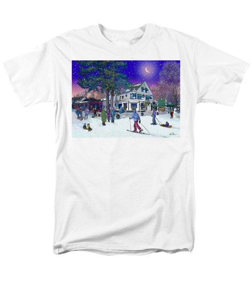 After The Storm At Woodstock Inn Men's T-Shirt  (Regular Fit) by Nancy Griswold