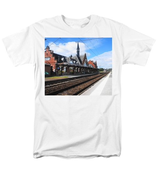 Men's T-Shirt  (Regular Fit) featuring the photograph Albert Train Station, France by Therese Alcorn
