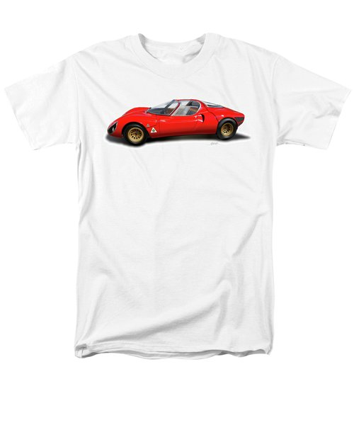 Alfa Romeo 33 Stradale 1967 Men's T-Shirt  (Regular Fit) by Alain Jamar