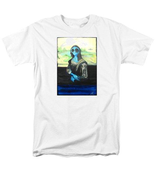 alien Mona Lisa Men's T-Shirt  (Regular Fit)