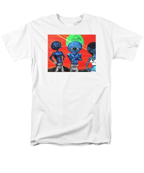 Men's T-Shirt  (Regular Fit) featuring the painting Alien Posse by Similar Alien