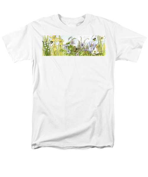 Alive In A Spring Garden Men's T-Shirt  (Regular Fit) by Laurie Rohner