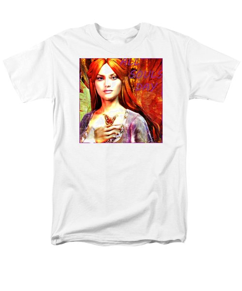 Men's T-Shirt  (Regular Fit) featuring the painting All Souls Day Angel by Suzanne Silvir